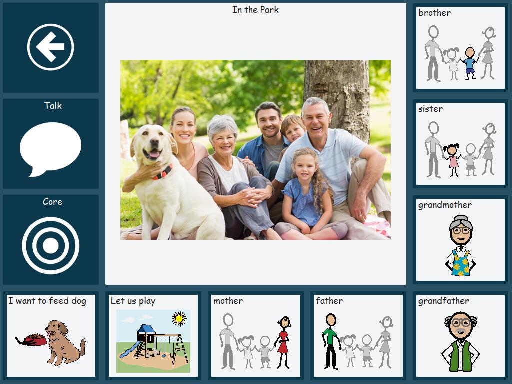 Communicator - Beispiel einer Szenenseite mit Kommentarfunktion